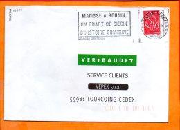 "AISNE, Bohain En Vermandois, Flamme N° SCOTEM 19499, ""Matisse à Bohain"" - Storia Postale"