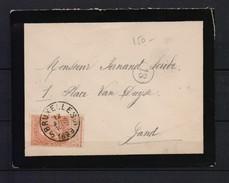 57  OP BRIEF 1899 H 10K17 - 1893-1907 Coat Of Arms