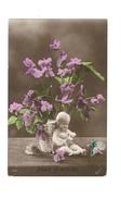 Mes Amitiés - Risette - Bouquet De Violettes Dans Vase - Enfant Avec Hotte Sur Le Dos - 3613 - Otros