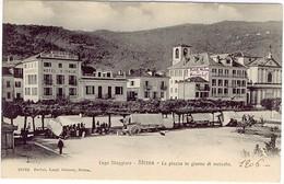LAGO MAGGIORE VERBANIA STRESA LA PIAZZA IN UN GIORNO DI MERCATO 1906 - Verbania