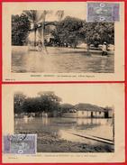 CPA Afrique Africa DAHOMEY (Benin) COTONOU (Lot De 2) INONDATIONS 1925 L'Ecole Régionale, Ville Indigène ° Edition E. R. - Dahome