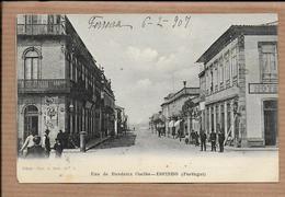 ESPINHO Postal Rua Bandeira Coelho. Lojas / Hotel. Old Postcard / AVEIRO/ PORTUGAL Circulado 1907 - Aveiro