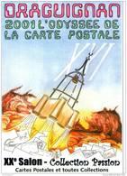 XV° SALON DE LA CARTE POSTALE  DE DRAGUIGNAN Illustration C  COUDREY - Bourses & Salons De Collections