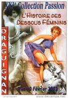 """DRAGUIGNAN Salon De La Carte Postale 2002 """"L'Histoire Des Dessous Feminin"""" - Collector Fairs & Bourses"""