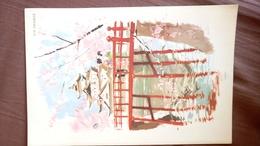 Menu AIR FRANCE Japon - Illustration Beuville Menu Vickning 24/05/ 1961 Ligne Non Précisée - Menu