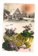 Joyeux Noël - Sabot Et Violettes - Maisons Sous La Neige - Ceko 1385 - 3737 - Otros