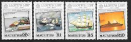 Mauritius, Scott # 587-90 MNH Lloyd's List, Ships, 1984 - Mauritius (1968-...)