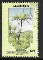 Mauritius, Scott # 693 Used Fern Tree, 1989, Undated - Mauritius (1968-...)