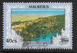 Mauritius, Scott # 781 Used Bassin Blanc, Surcharged, 1993 - Mauritius (1968-...)