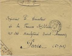1930- Enveloppe Postes Aux Armées * 109 *   LANDAU 1ère Div. Marocaine  Pour Paris - Military Postmarks From 1900 (out Of Wars Periods)