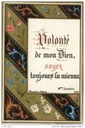 Image 1882 , Qui Annonce L' Art Nouveau : Décor Floral Et Dorure .  EXCEPTIONNELLE . - Devotieprenten