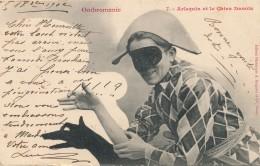 Ombromanie - Arlequin Et Le Chien Danois - Silhouette - Scissor-type