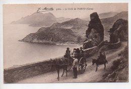 REF 266  : CPA CORSE Moretti Le Golfe De Porto Beau Plan Attelage - France