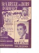 Partition- Ma Belle Au Bois Dormant - Luis Mariano   - Paroles:maurice Vandair  -Musique: Henri Bourtayre - Non Classés