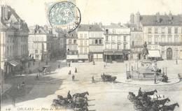 Orléans (Loiret) - Place Du Martroy - Attelages - Carte LL N° 116 - Orleans