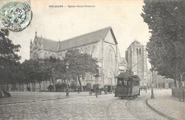 Orléans (Loiret) - Eglise Saint-Paterne - Attelages Et Tramway - Carte Précurseur - Orleans