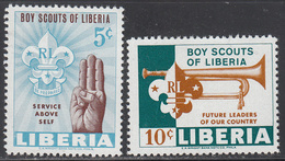 LIBERIA    SCOTT NO.  421-22     MINT HINGED     YEAR  1965 - Liberia