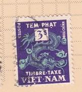 Vietnam J8 1955 Postage Due  3 Pi  Used - Vietnam