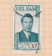 Vietnam S 13 Emperor Bao Dai 30 Pi Used - Vietnam