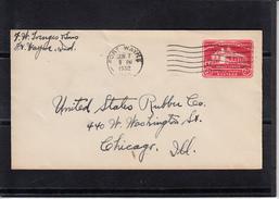 U.S.POSTAGE Entier 2c Sur Lettre  De FORT WAYNE Indiana  Le 7 JUIN 1932 Pour  CHICAGO