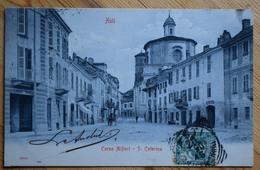 Asti - Corso Alfieri - S. Caterina - Animée : Petite Animation En Arrière-plan - Dos Simple - (n°7310) - Asti