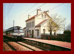 Théme Trains / Gare  *  Belloy Saint Martin  Val D'oise     * Scan Recto Et Verso - Gares - Avec Trains