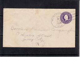 U.S.POSTAGE Entier 3c Sur Lettre  De  ISTACHAT FALL  Le 26 JUIN 1936  Pour  JERSEY CITY N.Y.