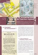 Passé Recomposé, La Société Namuroise à La Fin De L'ancien Tégime (dépliant 16 Pages, 2001) - Belgium