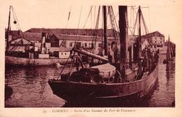 LORIENT -56- SORTIE D'UN STEAMER DU PORT DE COMMERCE - Lorient