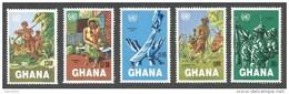 Ghana 1984 UN Namibia Day Apartheid Struggle Michel 1013-7 MNH Mint Set - Ghana (1957-...)