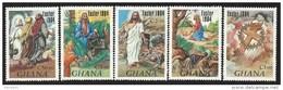 Ghana 1984 Easter Christ Crusifiction MNH Set - Ghana (1957-...)