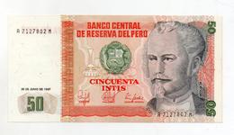 Perù - 1987 - Banconota Da 50 INTIS - Nuova -  (FDC2387) - Perú
