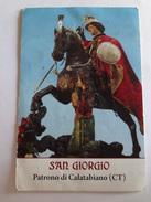 D896 - Santino Holy Card San Giorgio Patrono Di Calatabiano (Catania) - Images Religieuses