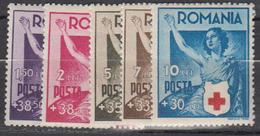 ROUMANIE    1941         N°   649 / 653     COTE     7 , 00   EUROS         ( D 197 ) - 1918-1948 Ferdinand I., Charles II & Michel