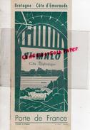 35 - SAINT MALO - DEPLIANT TOURISTIQUE - IMPRIMERIE A. LIORIT - ANNEES 50-60 - Dépliants Touristiques