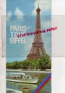 75 - PARIS TOUR EIFFEL - LES VEDETTES PONT D' IENA- PLAN DU METRO- 1962 - Dépliants Touristiques
