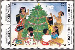 MICRONESIE - 1988  - Noël - Yvert  61/64 Neufs ** - Micronésie