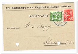 Briefkaart Schiedam Naar Scherpenzeel 19.11.18 1931 ( N.V. Maatschappij T.v.d.z. Kappelhof & Hovingh, Schiedam) - Periode 1891-1948 (Wilhelmina)