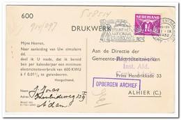 Briefkaart Stempel Amsterdam Centraal Station 19-20.21.IX 1932 ( Gemeente Electriciteitswerken) - Periode 1891-1948 (Wilhelmina)