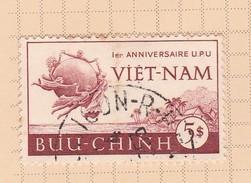 Vietnam S 18 1952  Admission To UPU First Anniversary Used - Vietnam