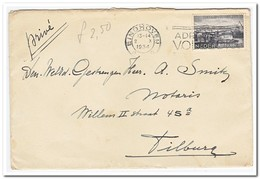 Brief Van Eindhoven Naar Tilburg ( Afstempeling Eindhoven 13-14,2  X 1934 ) - Periode 1891-1948 (Wilhelmina)