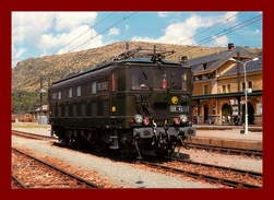Théme Trains / Gare  *   Bb4208 En Gare De Carol 66    * Scan Recto Et Verso - Stations With Trains