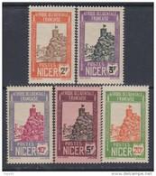 Niger N° 48 / 52 XX  Partie De Série,  Les 5  Valeurs Sans Charnière, Gomme Tropicale Sinon TB