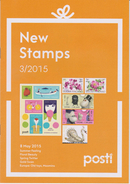 Finland Brochure ´New Stamps´ 2015/3 - Summer - Floral Beauty - Spring - Gold Swan - Europa - Old Toys - Moomins - Finland