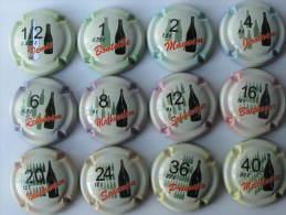 Série De 12   Capsules De Champagne  Générique LES FLACONNAGES N° 882 à 882 K - Champagne