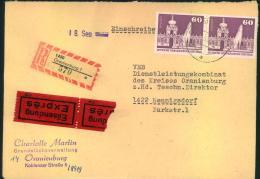 Einschreiben/Eilboten Ab ORANIENBURG Nach Hennigsdorf. - DDR