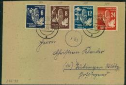 1951, Frieden Komplett Als Satzbrief Ab STOLLBERG (SACHSEN) - DDR