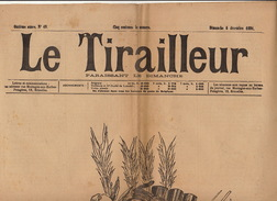 Journal Ancien LE TIRAILLEUR 1891 Caricature Politique Pleine Page La Réforme - Journaux - Quotidiens