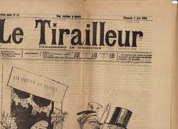 Journal Ancien LE TIRAILLEUR 1894 Caricature Politique Pleine Page La R.P. Catholique - Journaux - Quotidiens