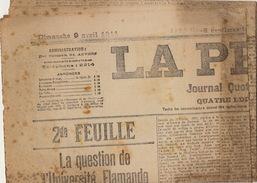 Journal Ancien Anvers LA PRESSE La Question De L'université Flamande Avril 1911 - Journaux - Quotidiens